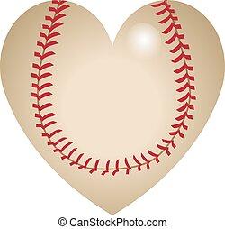Baseball heart shape