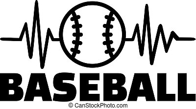 Baseball heartbeat line