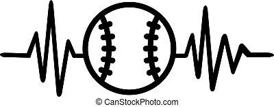 Baseball heartbeat pulse