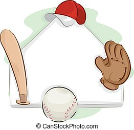 Baseball Home Base Frame - Frame Illustration Featuring a...