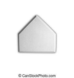 Baseball home plate base isolated on white