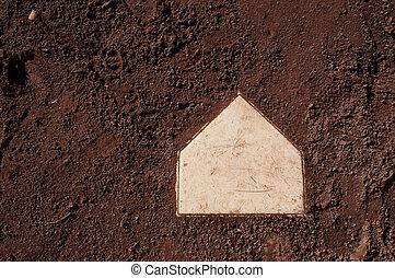 baseball home plate isolated