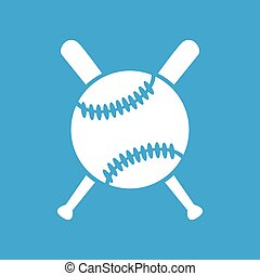 Baseball icon 2, simple