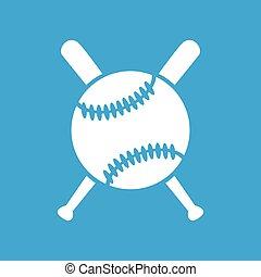 Baseball icon 2, simple