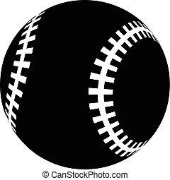 Baseball icon, simple black style