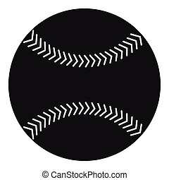 Baseball icon, simple style