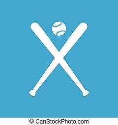 Baseball icon, simple