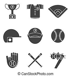 Baseball icons set