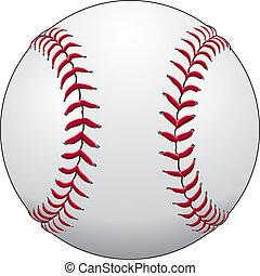 Baseball - Illustration of a baseball or softball in white ...