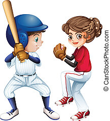 Baseball - Illustration of a baseball team