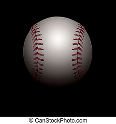 baseball, illustrazione, ombreggiato