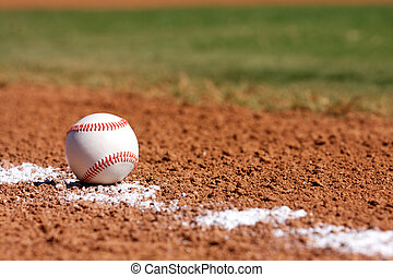 Baseball in the Infield - Baseball on the field