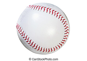 Baseball isolated clipping path - Photo of a baseball...