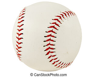 Isolated shot of a baseball