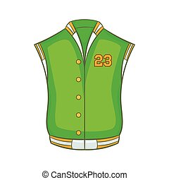 Baseball jacket icon, cartoon style