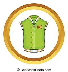 Baseball jacket vector icon