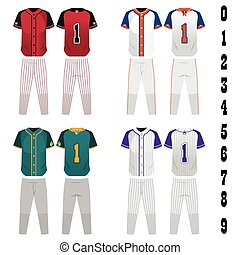 Baseball jersey - A vector illustration of baseball jersey...