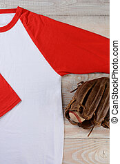 Baseball Jersey With Glove