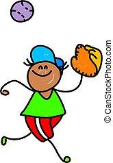 baseball kid - little boy playing baseball - toddler art...