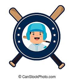 baseball, korsat, Slagträ, ikonen