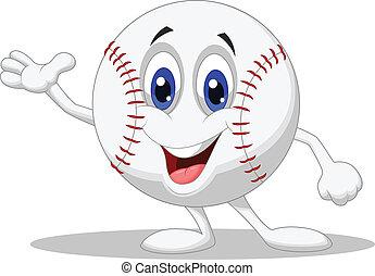 baseball labda, karikatúra, betű
