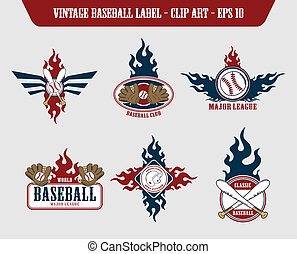 baseball label sticker
