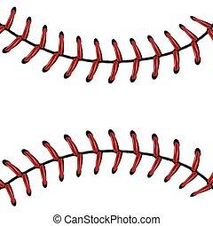 baseball, laccio, fondo