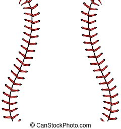 Baseball Lace Background - Softball, baseball red lace over...