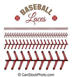 Baseball laces pattern