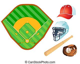 Baseball layout and equipment