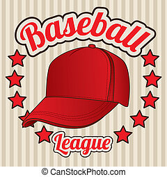 baseball league over lineal background vector illustration