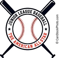 baseball league theme - baseball league sport theme vector...