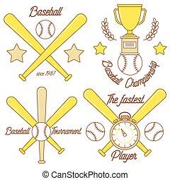 Baseball line logo design