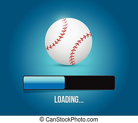 baseball loading bar illustration design