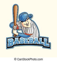 baseball logo illustration design