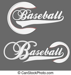 Baseball Logotpe - Baseball Logotype - graphics for t-shirt...