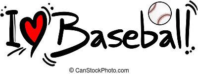 Baseball love - Creative design of baseball love