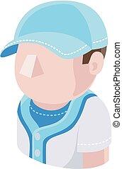 Baseball Man Avatar People Icon
