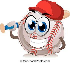 Baseball Mascot holding bat