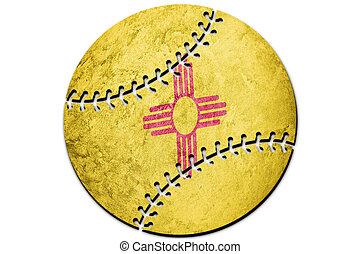 Baseball New Mexico state flag. New Mexico flag background Baseball