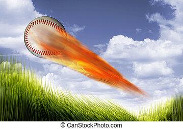 Baseball on Fire.
