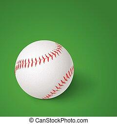 baseball on green