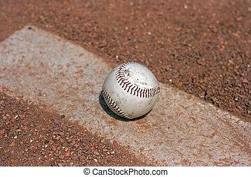 Baseball on Pitches mound