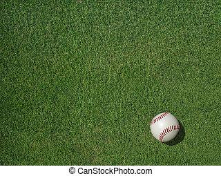 Baseball on Sports Turf Grass - Baseball on green sports...