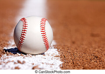 Baseball on the Chalk Line - Baseball on the field