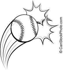 Baseball or Softball Pow - Vector illustration of a baseball...