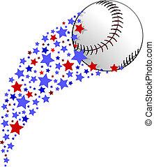 Baseball or Softball Star Field Swoosh - illustration of a...