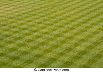 Baseball Outfield Grass - Patterns of the Grass in the...