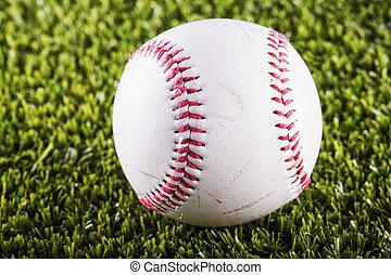 Baseball over grass