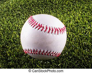 Baseball over synthetic grass